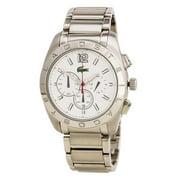 Lacoste Men's 2010604 Panama White Dial Steel Bracelet Chronograph Watch