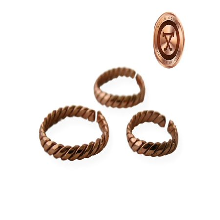 ProExl Solid Copper Ring Arthritis Relief with Gift Box (Medium Size 10)