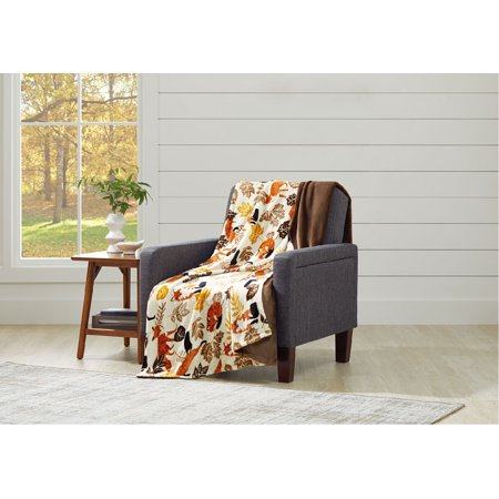 Better Homes & Gardens Oversize Reversible Velvet Plush Throw Blanket