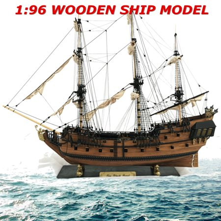 1: 96 Scale 3D Wooden Sailboat Ship Kit Home Model Decoration Boat Christmas DIY Gift ()
