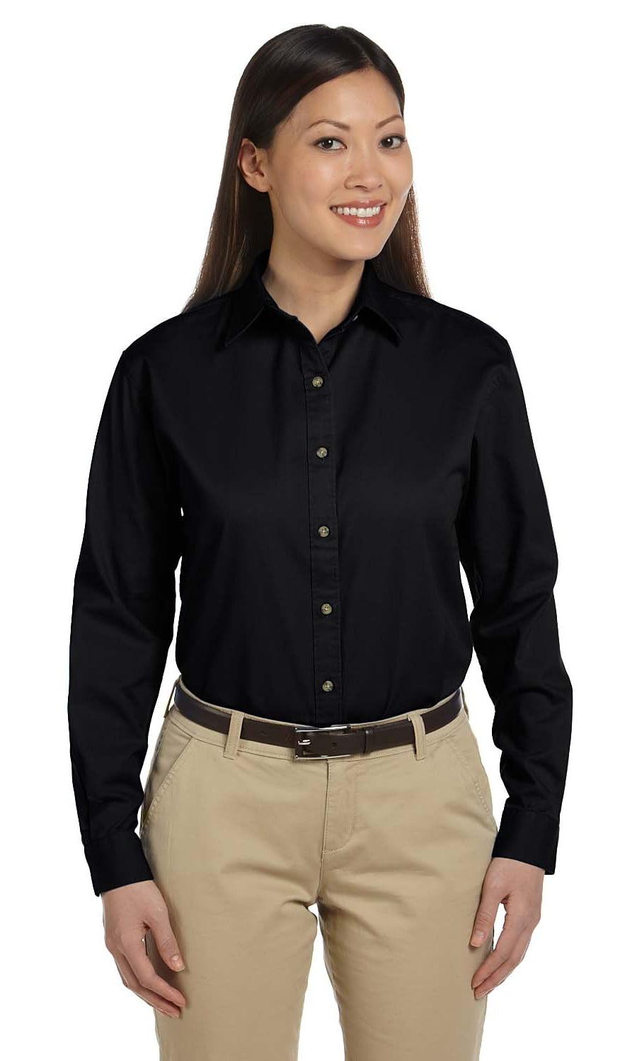 703bd11121f Devon   Jones - Devon   Jones D500W Dress Shirt Women s Long Sleeve Titan  Twill - Walmart.com