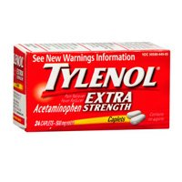 Tylenol Extra Strength Caplets, 500 Mg, 24 Count