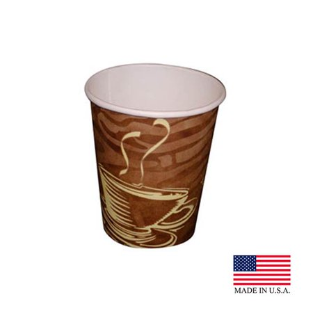 Dopaco 4834-D8HCSWL PE Swirl 8 oz Tall Hot Cup, Pack of 1000 - image 1 of 1
