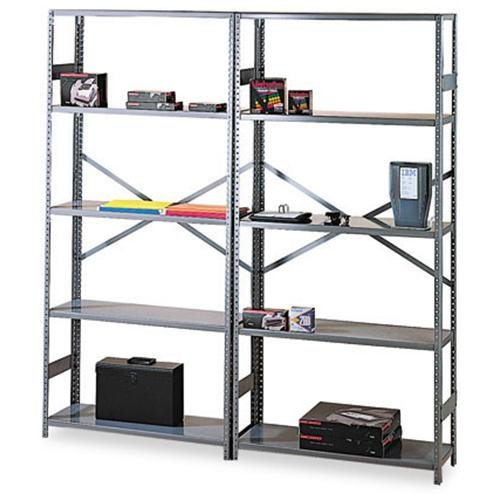 "Tennsco Commercial Shelf - 36"" X 18"" X 75"" - Steel - 6 X Shelf[ves] - Medium Gray (ESP61836MGY)"