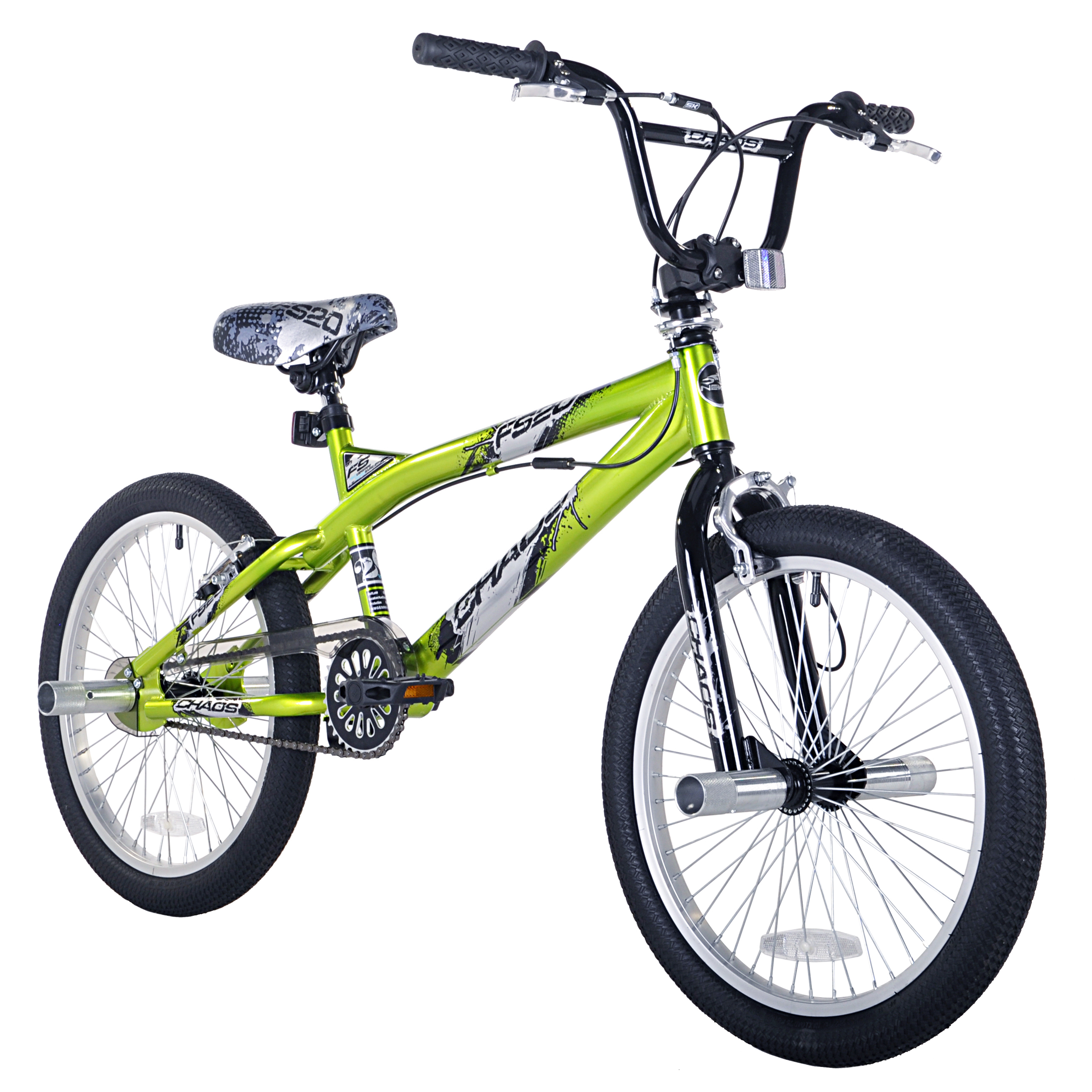 20 Kent Chaos Boys Freestyle Bike Green Walmart Com
