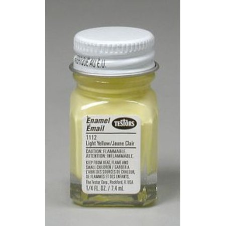 Light Yellow Testors Enamel Plastic Model Paint (Testors Enamel Paint Yellow)