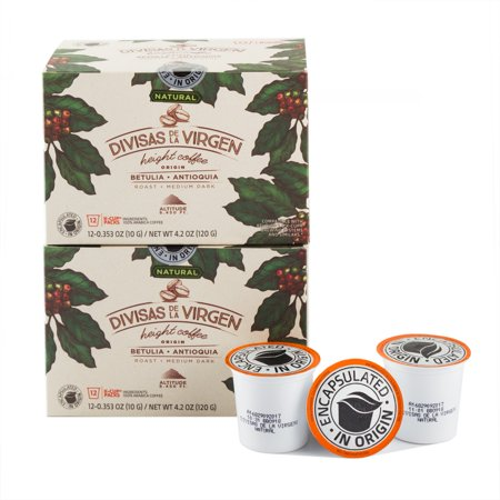 Colombia Natural (Colombian Premium Coffee K-Cup Divisas De La Virgen Natural Roasted and Freshly Packed in Colombia 24)