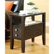 A Line Furniture Casual Cappuccino Accent Table with Drawer