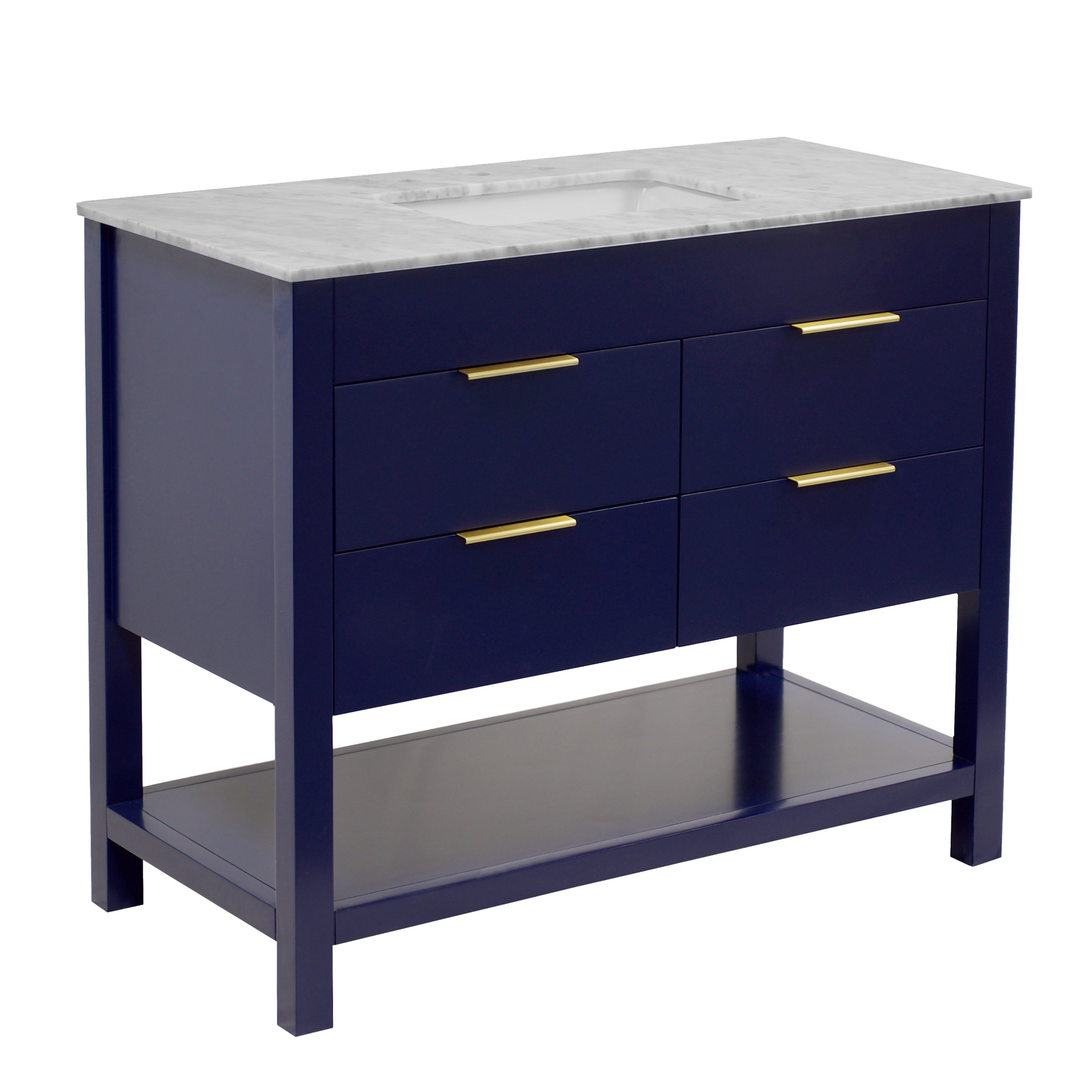 "Harbor 42"" Bathroom Vanity with Royal Blue Cabinet ..."