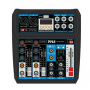 Pyle PMX44T - Professional 6-Channel Compact Audio Mixer - DC 5V Power Supply USB Interface Mixer with and DSP Sound Effects
