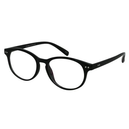 Ebe Reading Glasses Mens Womens Round Black Acetate remarkable grade Anti Glare ckbtr9089