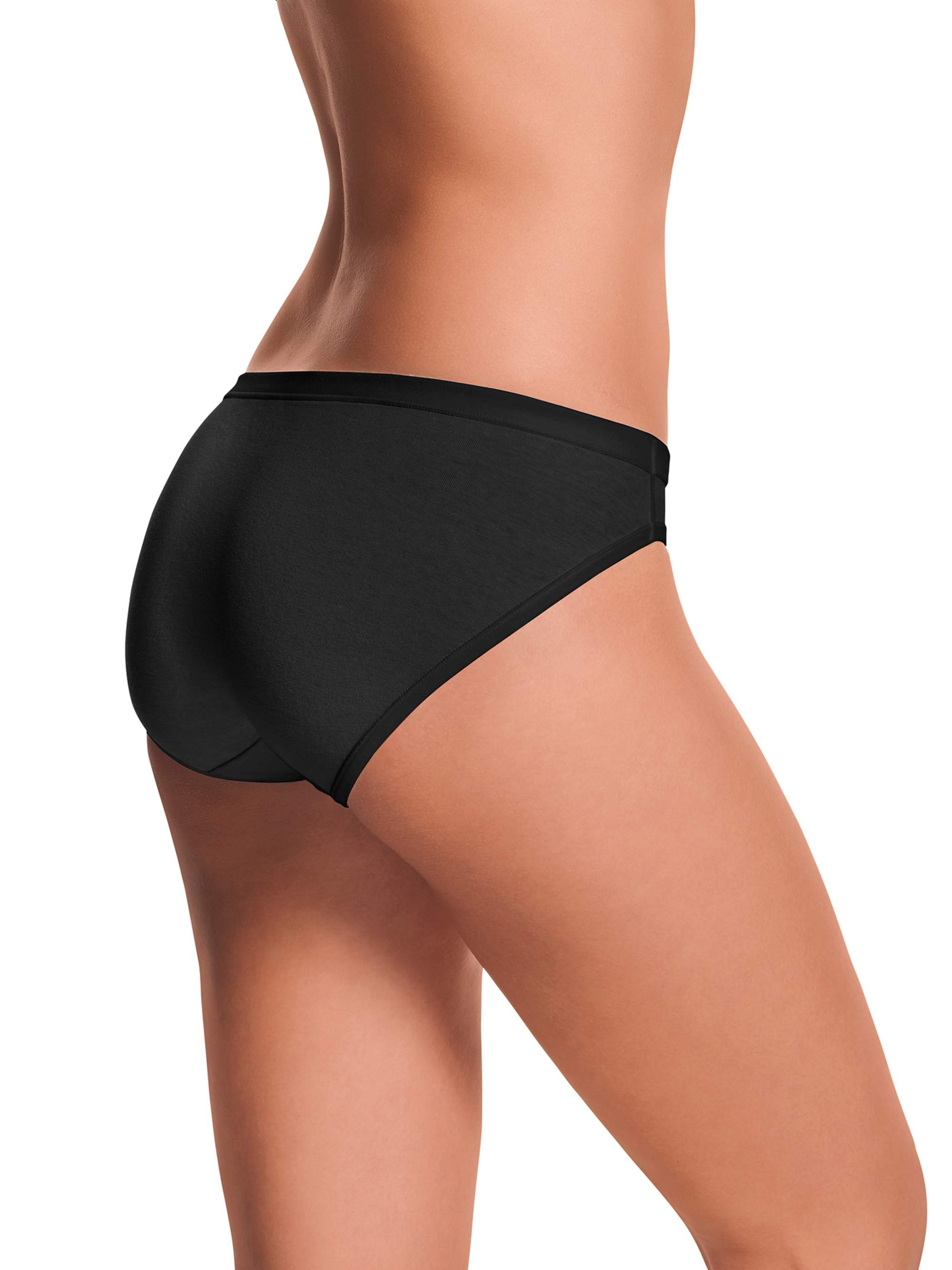Women's Assorted Cotton Stretch Bikini Panties - 3 Pack
