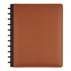 TUL Custom Note-Taking System Discbound Notebook, Letter Size, Leather Cover, Brown