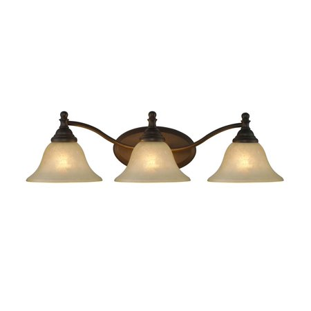 Zoey 3 Light Rubbed Bronze Bath Vanity Wall Fixture