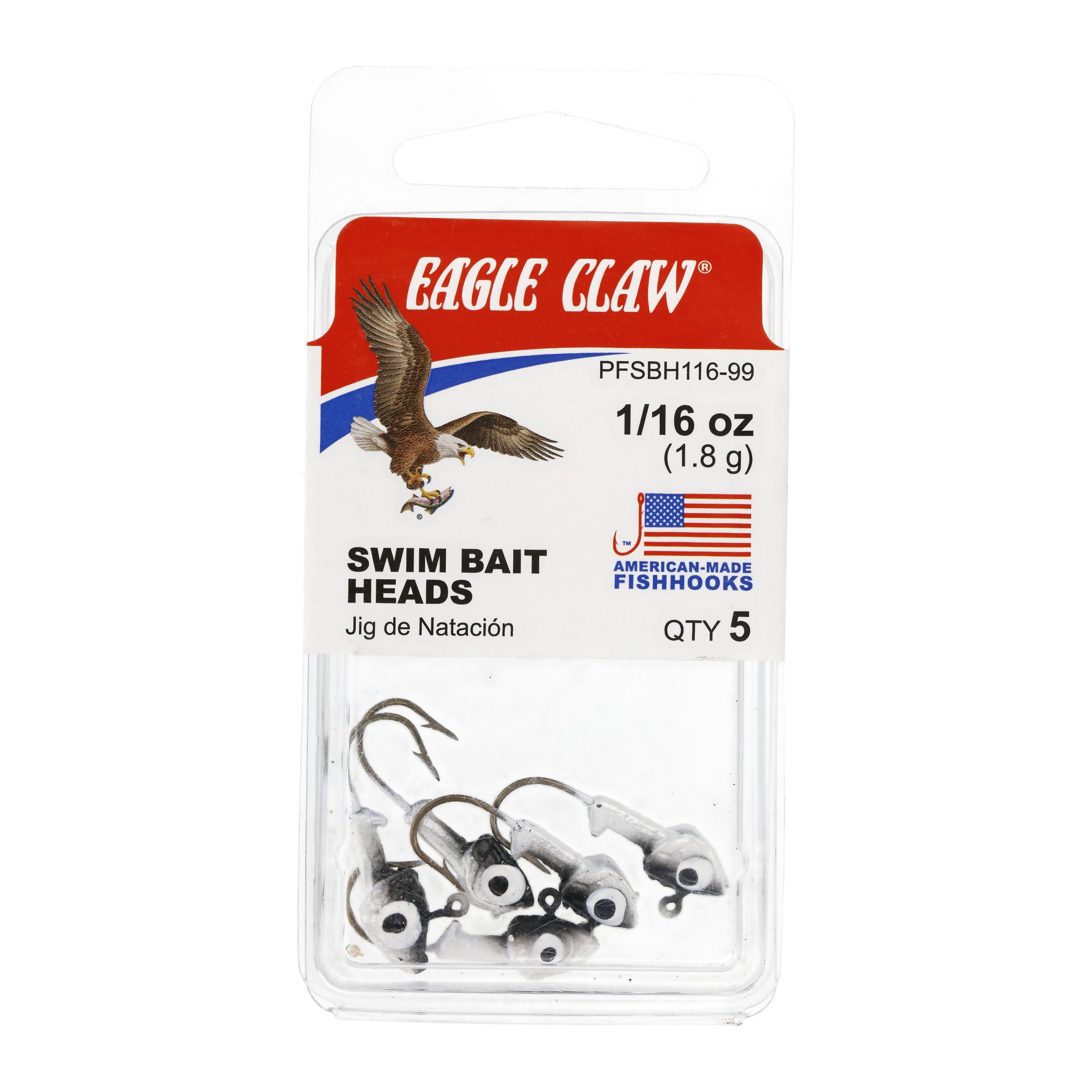 G13-16 40 Eagle Claw Unpainted 1//16oz Jig-Heads