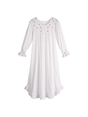 264cd6214b Product Image Women s Petite Rosebuds White Cotton Nightgown