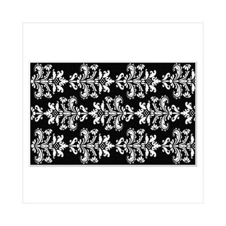 the rug market trm kids mini damask black white contemporary rug