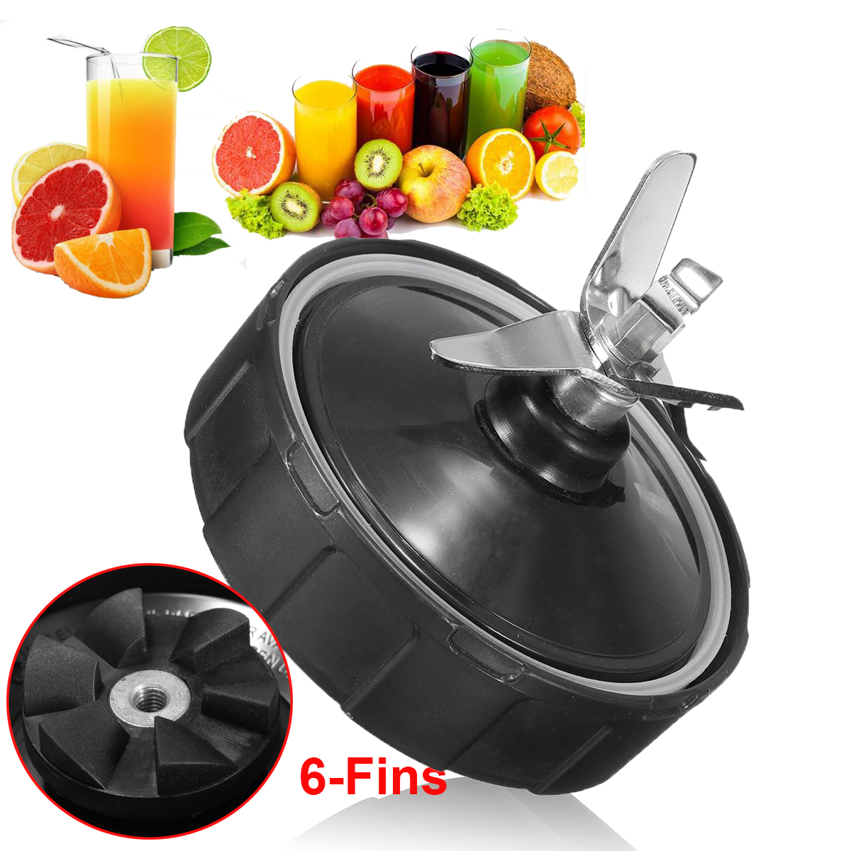 Blade Blender Extractor Replacement + Gasket Seal Ring For NUTRI NINJA 1000w