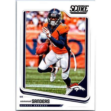 2018 Score #99 Emmanuel Sanders Denver Broncos Football Card (Denver Broncos Football Cards)