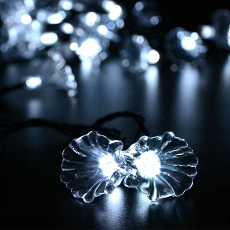 Outdoor Solar String Lights Fairy Blossom Flower 20ft 30 LED String Lighting for Christmas Party Home Patio Cold White - Flower String Lights