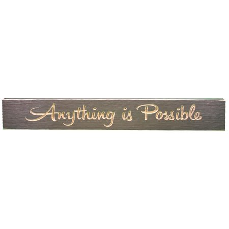Anything is Possible Routed Carved Barnwood Sign Wall Plaque 24 Inches USA (Carved Stone Plaque)