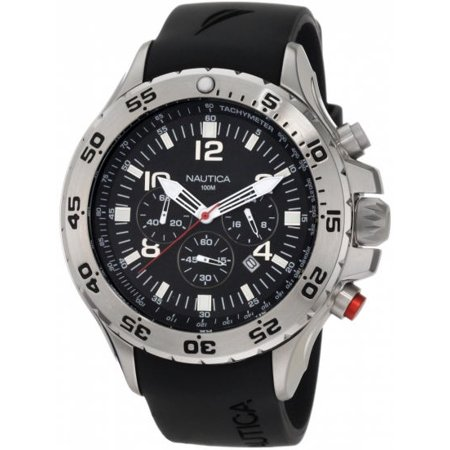 Nautica Men's NST Chrono N14536G Black Resin Quartz Watch