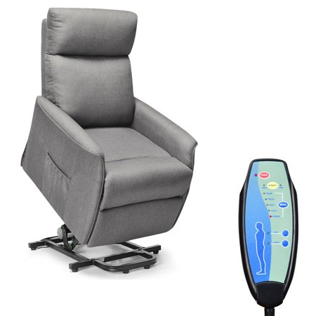 Costway Electric Power Lift Massage Chair Recliner Sofa Fabric Padded Seat w/Remote