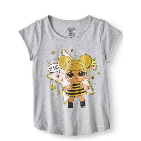 Doll Glitter Graphic T-Shirt (Little Girls & Big