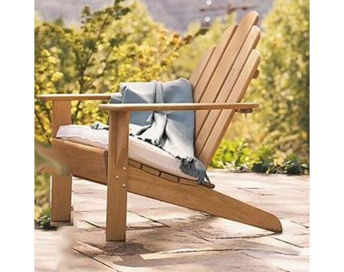 WholesaleTeak Outdoor Patio Grade A Teak Wood Adirondack Chair (Footrest  Not Included) #