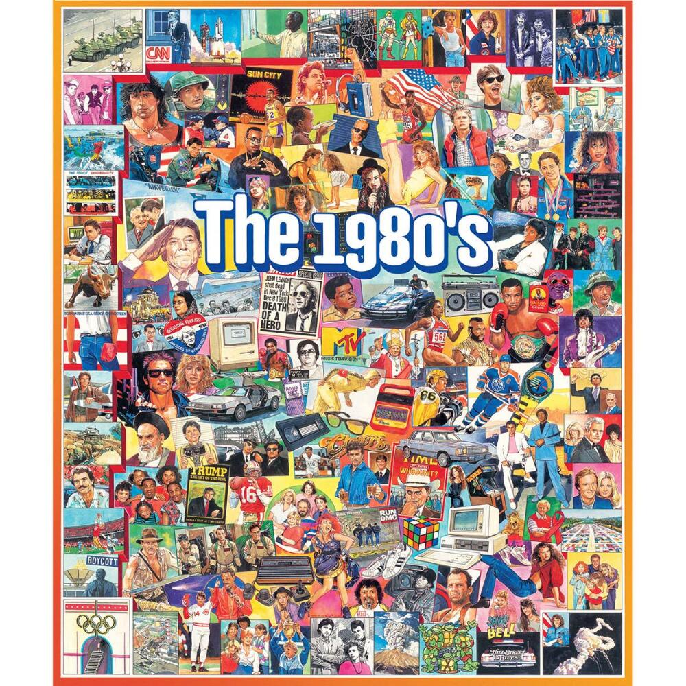 White Mountain Puzzles The Eighties 1000 Piece Jigsaw Puzzle by Heaven and Earth Designs
