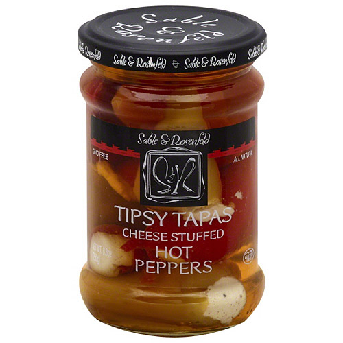 Sable & Rosenfeld Tipsy Tapas Cheese Stuffed Hot Peppers, 8.8 oz, (Pack of 6)