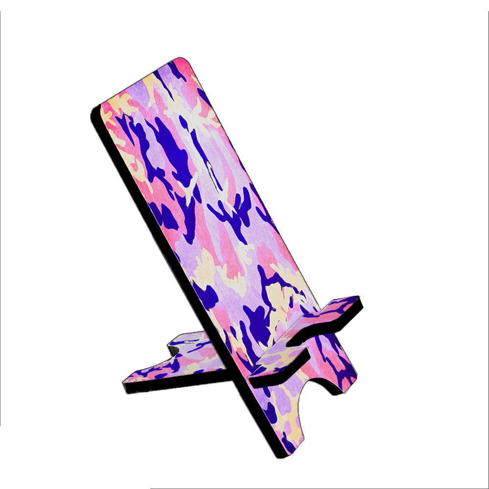 Purple Camouflage - KuzmarK Folding Stand fits iPad Mini iPhone Samsung Galaxy