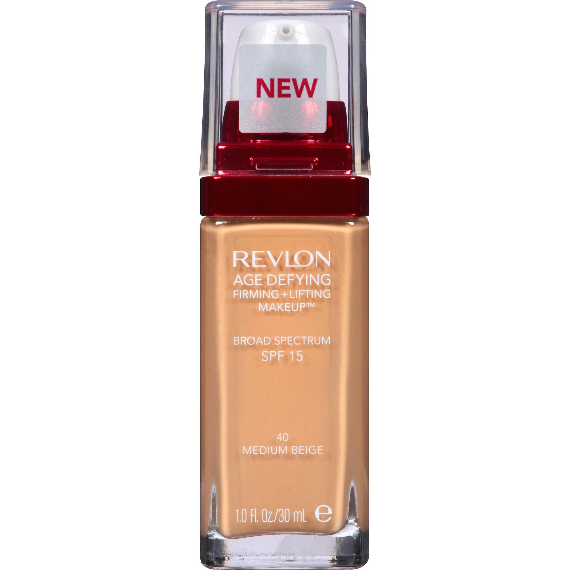 Maquillaje Para El Rostro Revlon edad desafiando reafirmante + Lifting maquillaje, 40 Beige medio, 1 fl oz + Revlon en Veo y Compro