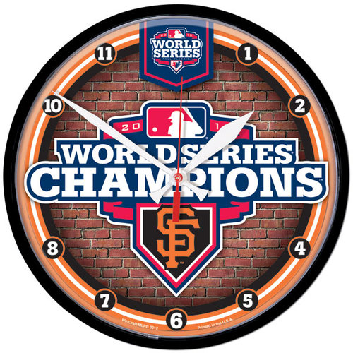 MLB - San Francisco Giants 2012 World Series Champions Round Wall Clock