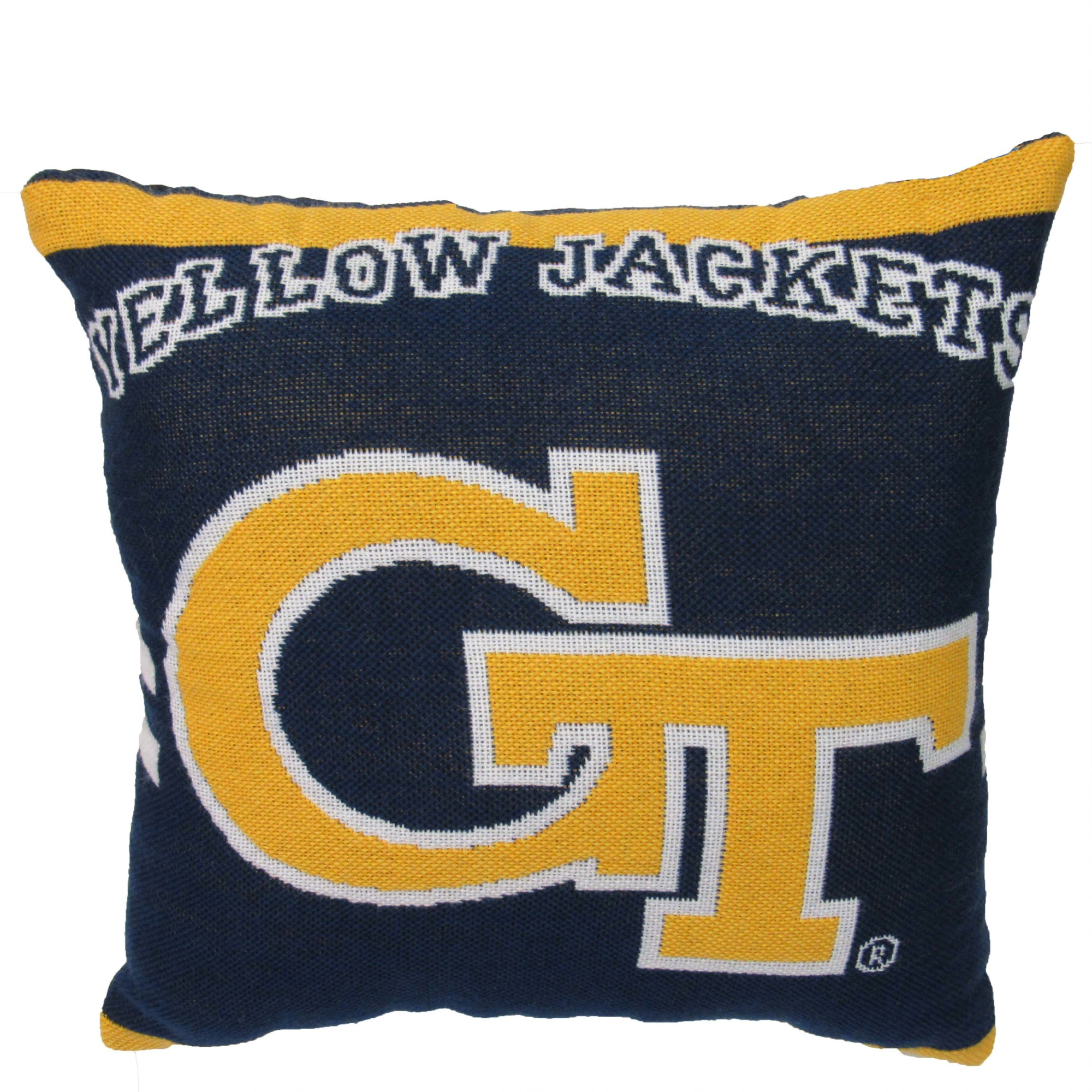 "NCAA Georgia Tech 20"" Square Decorative Woven Pillow by The Northwest Company"
