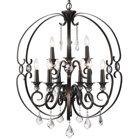 Beaumont Lane 2 Tier 9 Light Elegant Chandelier in Etruscan (Bronze Thirteen Light Chandelier)