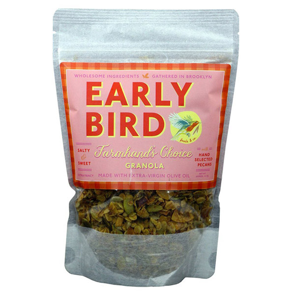 Early Bird Farmhand's Choice Granola with Pecans 12 oz Bags Single Pack by