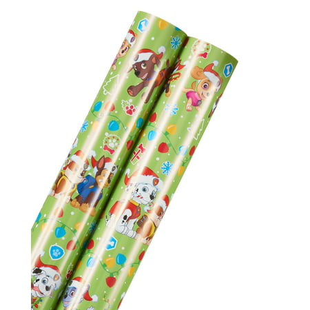 paw patrol christmas wrapping paper 2 roll - Walmart Christmas Wrapping Paper