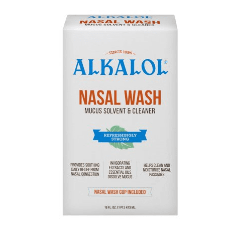 Alkalol Mucus Solvent and Cleaner Nasal Wash, 16 fl