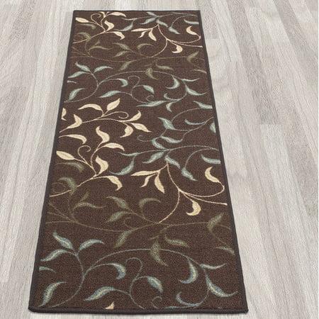 Ottomanson Ottohome Collection Contemporary Leaves Design