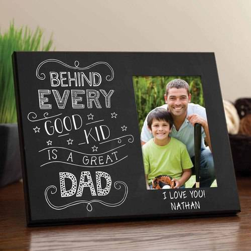 Fathers Day Frames (Personalized Behind Every Good Kid Is A Great Dad - Father's Day)