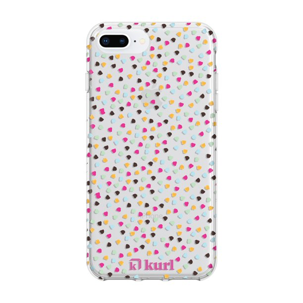 kurl iPhone 8 Plus, 7 Plus, 6S Plus, 6 Plus Printed Fashion Case - Funfetti Design