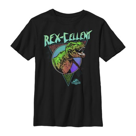 Jurassic World Boys' Retro Rexcellent Dino T-Shirt - Boys Retro