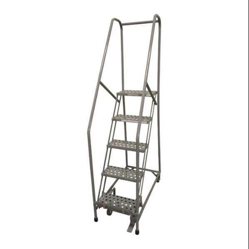 COTTERMAN 1005R1820A6E10B4AC1P6 Rolling Ladder,Steel,80In. H.,Gray G0638751