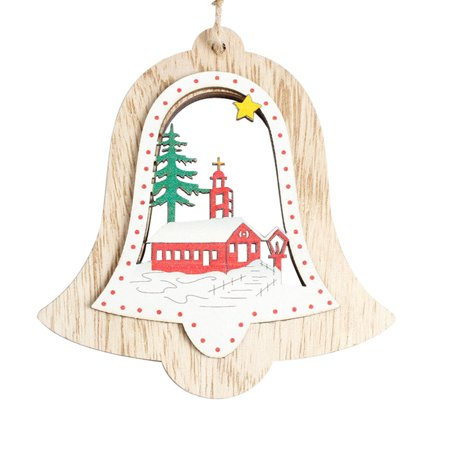 Hot Sale Exquisite Christmas Tree Decoration Wooden Ornament Hanging Pendant Christmas Gifts Xmas Home Festival Decor](Fall Festival Decorations)