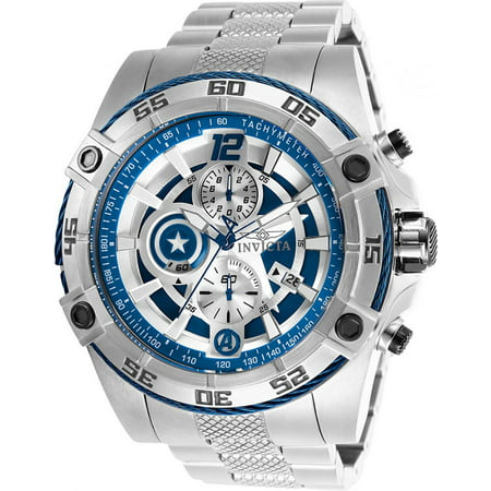 Invicta Men's Marvel Quartz Chrono 100m Stainless Steel Watch (Chrono Racer)