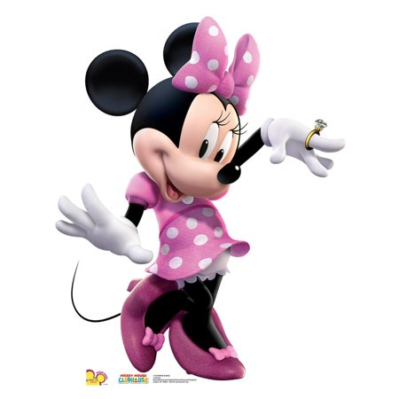 Minnie Dance - Pink Dress Cardboard Stand-Up, 3ft - Cardboard Fireplace Decoration