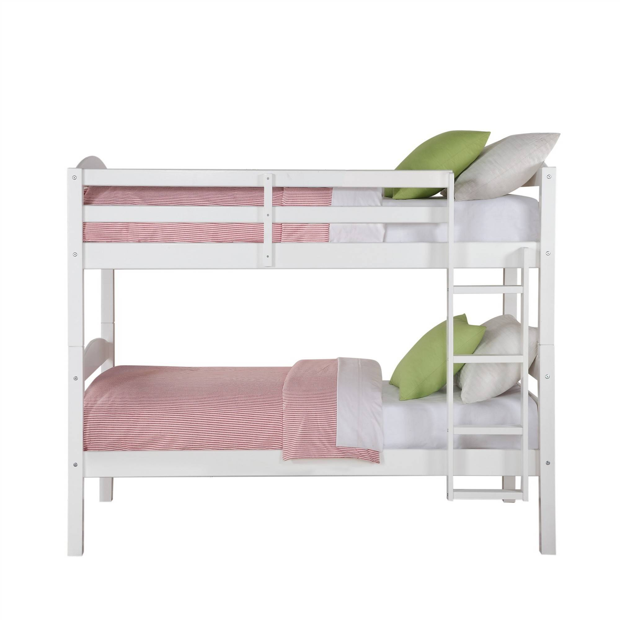 twin size bunk bed convertible wood ladder white finish kids bedroom furniture ebay. Black Bedroom Furniture Sets. Home Design Ideas