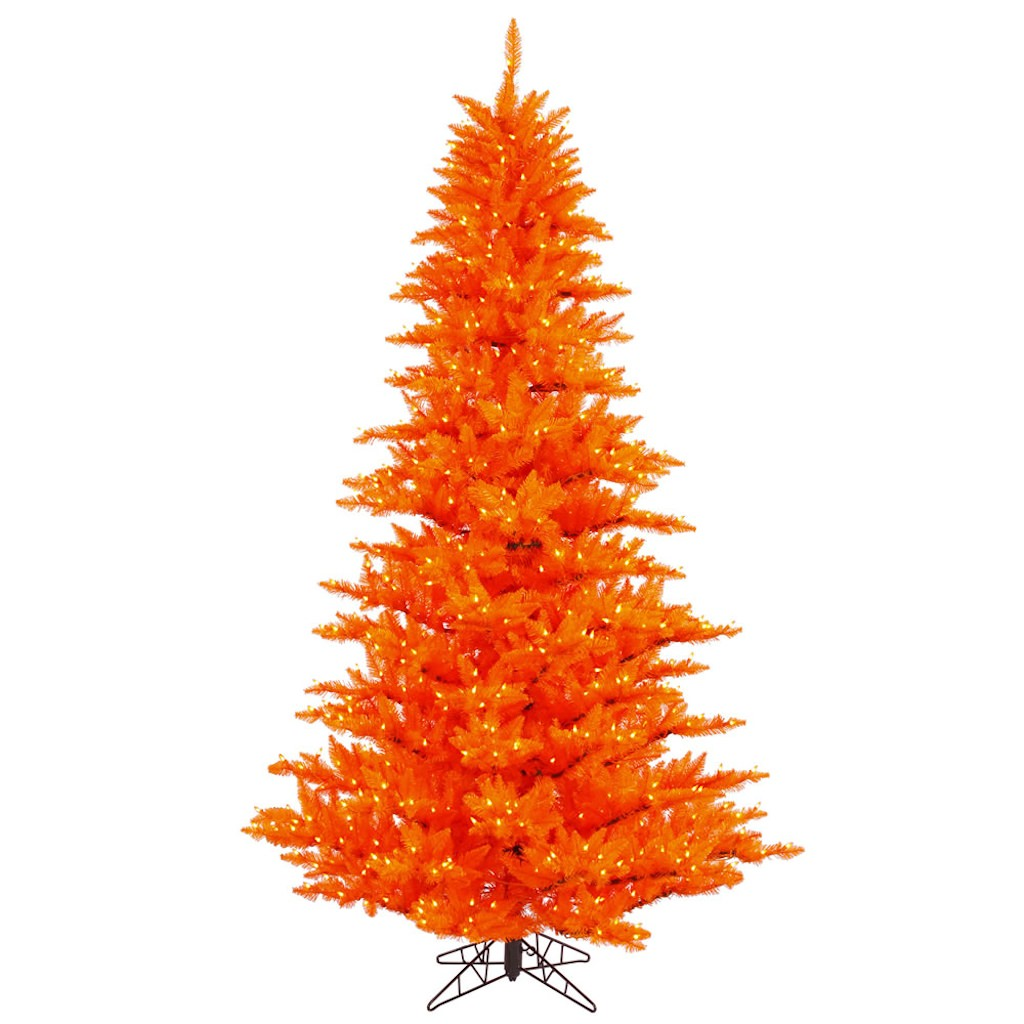 "Vickerman 28232 - 10' x 68"" Orange Fir 1,150 Orange Lights Christmas Tree (K122386)"