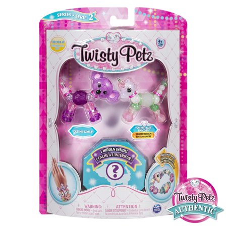 Twisty Petz, Series 2 3-Pack, Queenie Koala, Snowflakes Unicorn and Surprise Collectible Bracelet Set for Kids (Twisty Bug)